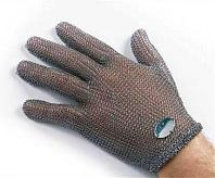 Перчатки кольчужные 5 пальцев без отворота 1шт. Германия (застежка на кр.)