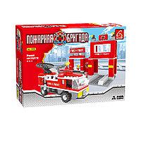 Игровой конструктор, Ausini, 21602, Пожарная бригада, 301 деталь, Пожарная часть, Цветная коробка