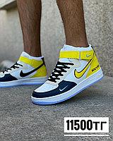 Кеды Nike New York выс желт син, фото 1