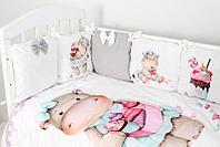 Комплект белья в кроватку Топотушки Глория 6 предметов