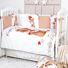 Комплект белья в кроватку Топотушки Валентинка 6 предметов