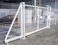 Откатные ворота для панельных ограждений 3Д
