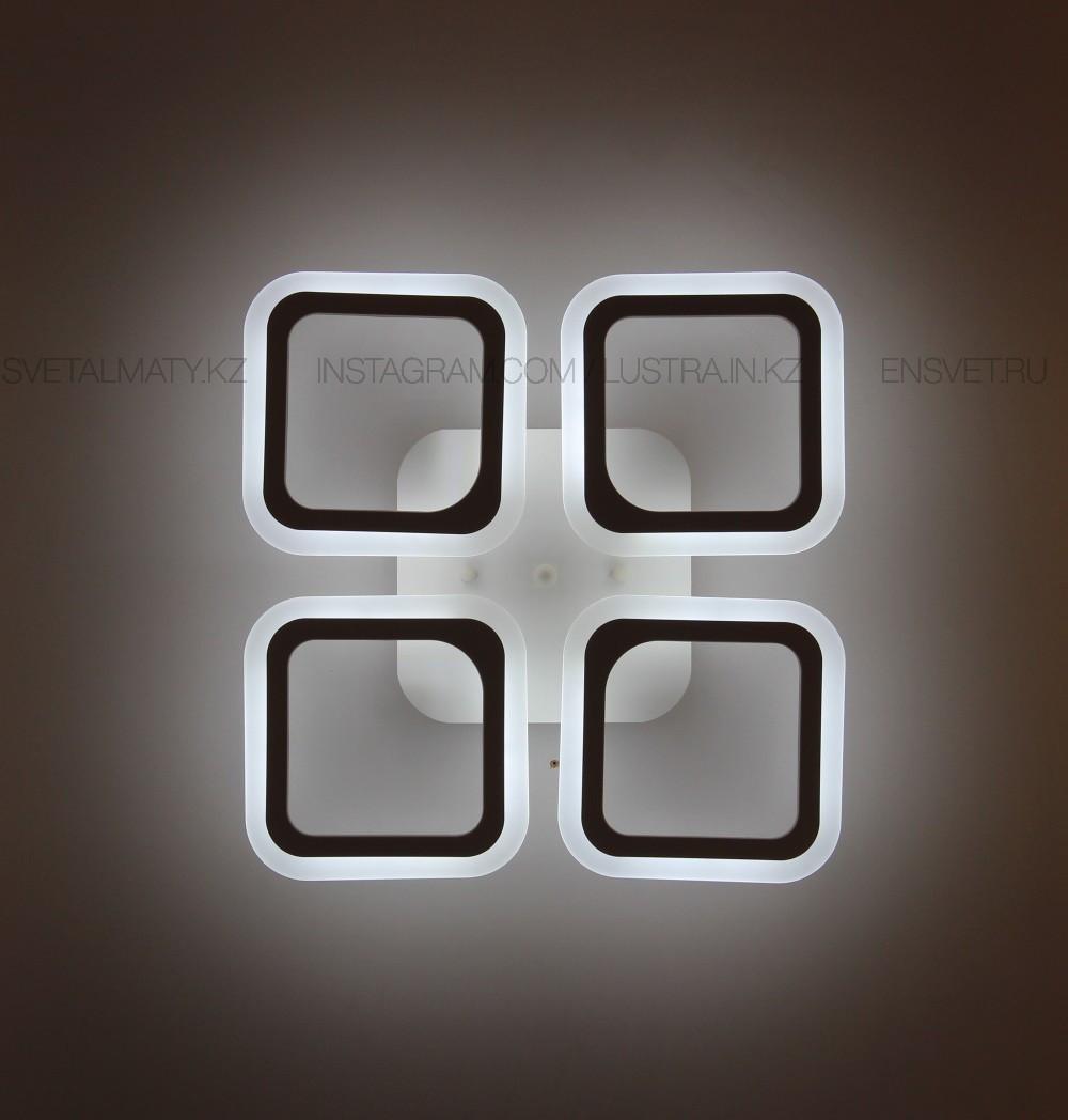 """Современная LED люстра """"Квадрат"""" с пультом 3 режима 80W"""