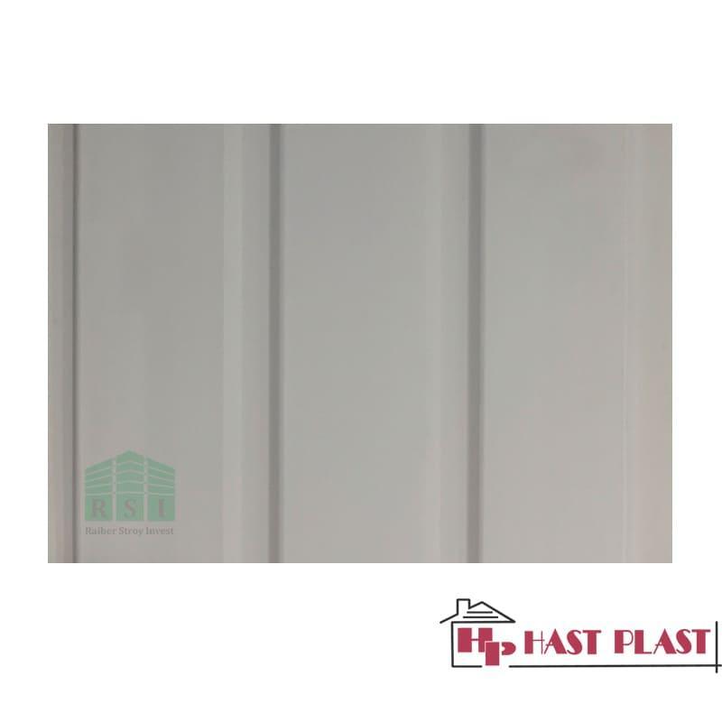 """Потолочная ПВХ панель """"Hast Plast"""" 3-ех полосная, 6 метров (персик)"""
