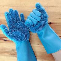 Силиконовые многофункциональные перчатки для мытья Magic Gloves