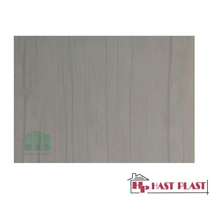 """Стеновая ПВХ панель """"Hast Plast"""" 4 метра (серый бамбук глянцевый)"""