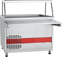 Прилавок холодильный ПВВ(Н)-70КМ-03-НШ вся нерж.1500мм с ванной,нейтральный шкаф