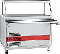 Прилавок холодильный ПВВ(Н)-70КМ-НШ кашированный, плоский стол(1120)