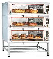 Шкаф пекарский подовый эл. ЭШП-3-01КП, пароувлаж,нерж. камера, поды-камень, разборный, 320 С