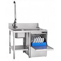 Машина посудомоечная кухонная электрическая МПК-500Ф-01 фронтальная(с насосом принудительного слива)