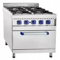 Плита газовая кухонная 4-х горелочная ПГК-49ЖШ с газовой духовкой