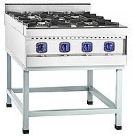 Плита газовая кухонная 4-х горелочнаяПГК-49П краш.подств.б/д