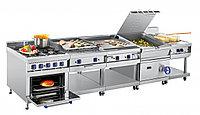 Плита газовая кухонная 6 горелочная ПГК-69ЖШ с газовой духовкой