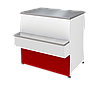Прилавок П2629 Таир расчетно кассовый неохлаждаемый (красный)
