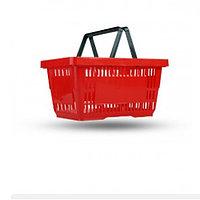 Корзина покупательская, пластик, красная
