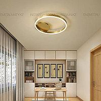 Современная LED люстра Кольцо в золотом цвете