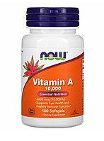 Витамин А,10 000 МЕ, Now Foods, ,100 капсул