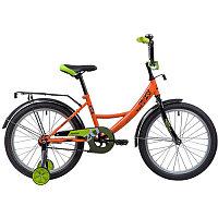 """Велосипед NOVATRACK 20"""", VECTOR, оранжевый, защита А-тип, тормоз нож., крылья и багажник чёрн., фото 1"""