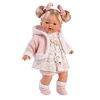 LLORENS: Кукла Роберта 33см, блондинка в розовом наряде