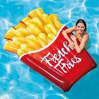 Плот-матрас надувной INTEX Sand & Summer для плавания (Картошка фри)
