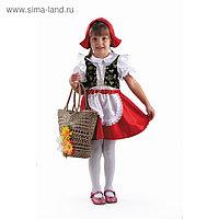 Карнавальный костюм «Красная Шапочка», текстиль, размер 30, рост 116 см