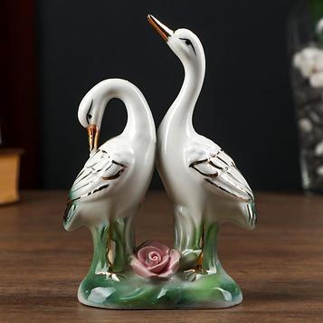 """Сувенир керамика """"2 цапли"""" 15х10х4,5 см"""