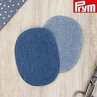 Заплатки для одежды, 10 × 14 см, термоклеевые, пара, цвет синий
