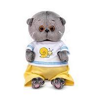 Мягкая игрушка 'Басик BABY', в футболке с улиткой, 20 см