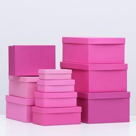 Набор коробок 10 в 1 'Пантон 230', 30,5 х 20 х 13 - 12 х 6,5 х 4 см - фото 1