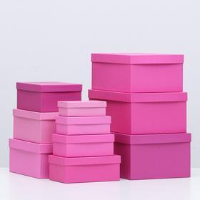 Набор коробок 10 в 1 'Пантон 230', 30,5 х 20 х 13 - 12 х 6,5 х 4 см - фото 2