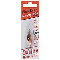 Блесна вращающаяся Black Killer № 0, 2,5 г, цвет silver yellow dots