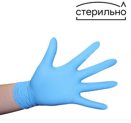 Перчатки диагностические стерильные нитриловые неопудренные., фото 2
