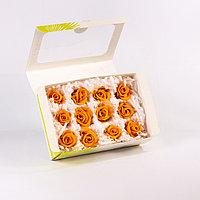 Роза Мини (оранжевый); 12 бутонов