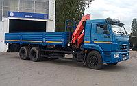 Бортовой автомобиль КАМАЗ 65117 с крано- манипуляторной установкой Palfinger PK 15 500