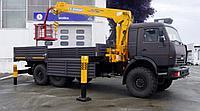 Бортовой автомобиль КАМАЗ 43118 с крано-манипуляторной установкой SOOSAN SCS-746L