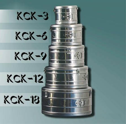 Бикс медицинский стерилизационный КСК-12 без фильтра, фото 2