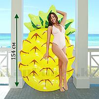Надувной пляжный матрас ананас 154 *88 *21 см