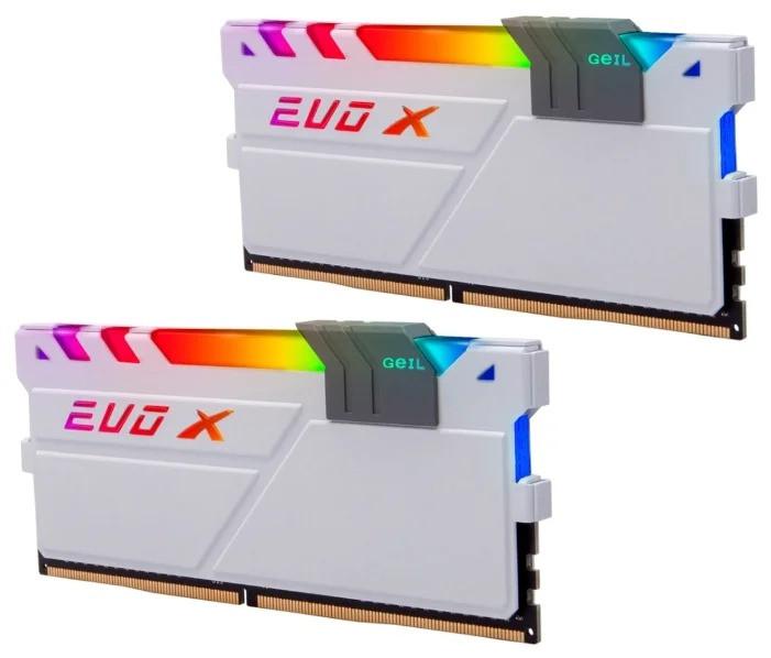 Оперативная память  32GB Kit (2x16GB) GEIL DDR4 PC4-24000 3000MHz EVO X II White с RGB подсветкой 16-18-18-36