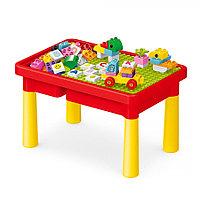 Стол для игры Pituso с конструктором Красный 56 эл.