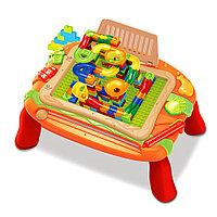 Стол для игры с конструктором Pituso и магнитной доской для рисования