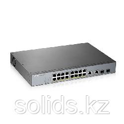 L2 коммутатор PoE+ для IP-видеокамер Zyxel GS1350-18HP 16xGE PoE+ 2xCombo (SFP/RJ-45) 250 Вт