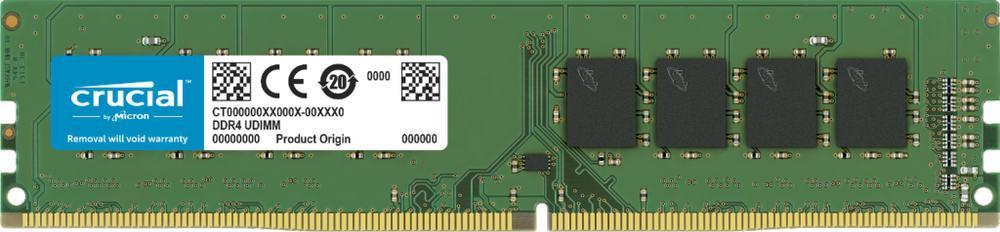 Оперативная память  8GB DDR4 2666 MHz Crucial  PC4-21300 Unbuffered NON-ECC 1,2V CT8G4DFRA266