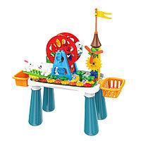 Стол для игры Pituso с конструктором в комплекте 66эл.