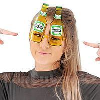 Карнавальные очки Beer желтые