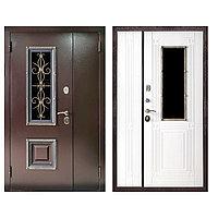 Дверь входная Ferroni Венеция Антик Медь/Белый ясень (двухстворчатая)1200 мм