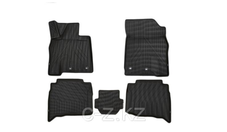 Коврики KVEST 3D в салон для LEXUS LX, 2015->, 5 шт. (черный, серый кант), фото 2