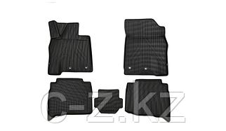 Коврики KVEST 3D в салон для LEXUS LX, 2015->, 5 шт. (черный, серый кант)