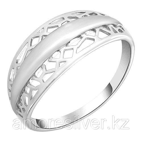 Кольцо Золотые узоры  серебро с родием, без вставок, , геометрия 90-01-5623-00