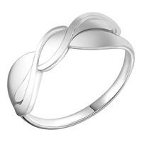 Кольцо Золотые узоры  серебро с родием, без вставок, , геометрия 90-01-6059-00