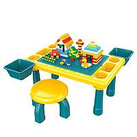 Стол для игры с конструктором Pituso +1 стул 300 эл.